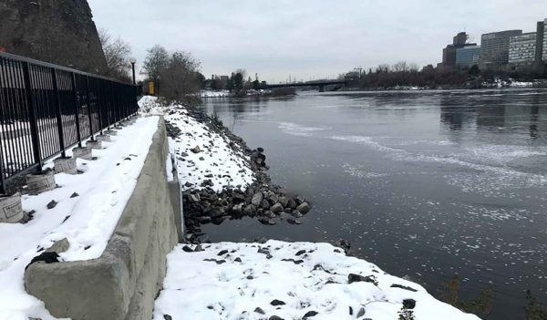 Ottawa river behind the Supreme Court of Canada