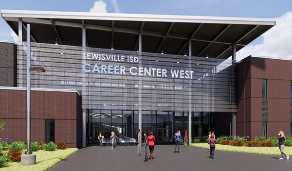 Rendering of the entrance to the school