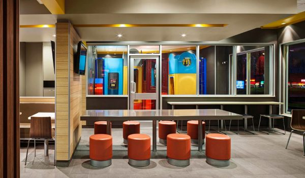 Seating area in a McDonald's
