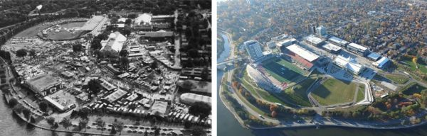 Before and after image of Lansdowne Park