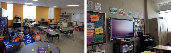 Images of 2 classrooms