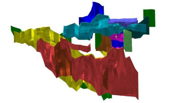 multi-coloured mine map rendering