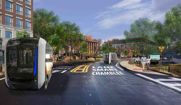 The Stantec team is working with the City of Chamblee to evaluate the feasibility of deploying shared autonomous vehicles (SAVs) along the downtown main street.