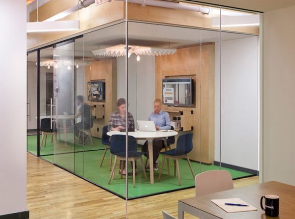 glass wall office space