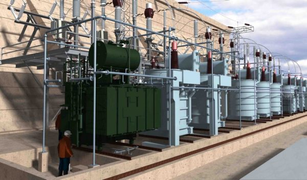 3D rendering of substation