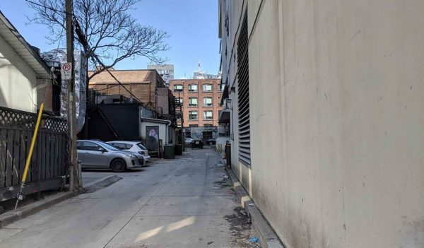 Toronto laneway transformation - before
