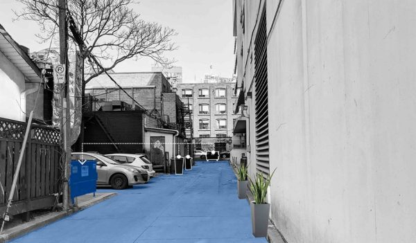 Toronto laneway transformation - changes