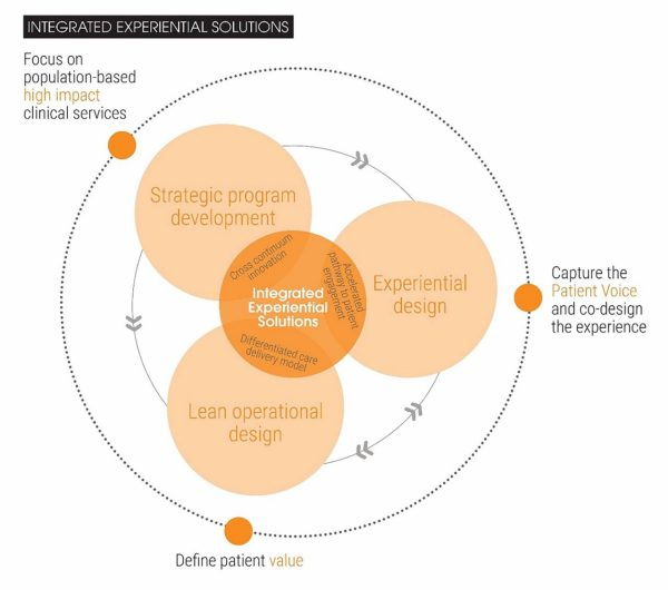 A visualization of the factors in integrated experiential solutions.