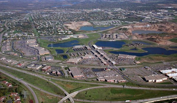 Aerial view of Arbor Lakes, in Maple Grove, Minnesota.
