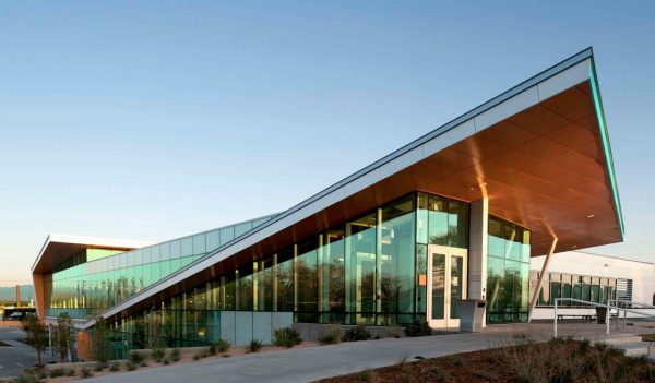 Exterior shot of Eastside Human Services Building in Denver, Colorado.