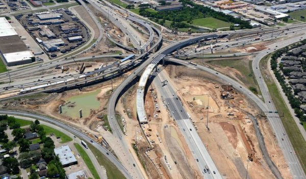 Aerial view of SH288, an $850 million P3 in Houston.