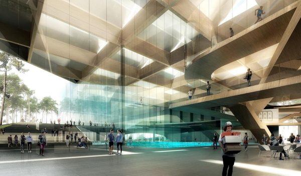Rendering of the building lobby