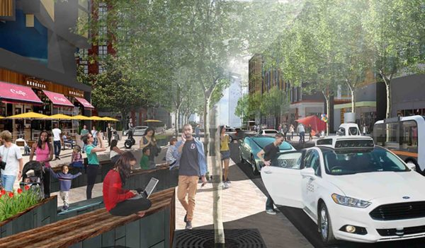 Main street concept for Brooklyn Village in Charlotte, North Carolina.