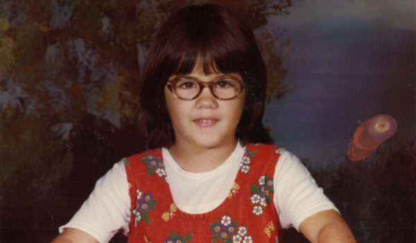 Denise Pothier in third grade.