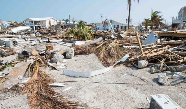 Remains of a neighborhood destroyed by Hurricane Irma in Big Pine Key, Florida