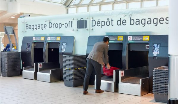 Self baggage drop-off stations
