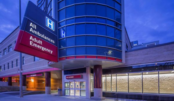 Hospital emergency room exterior