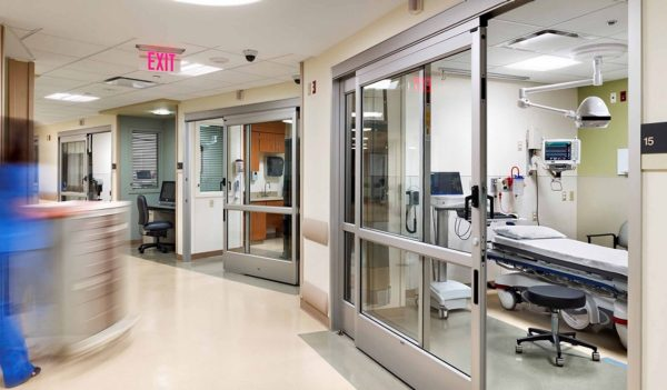 Hospital emergency area interior