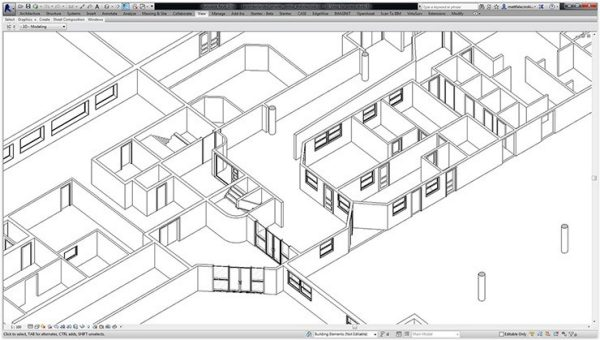 As-built Revit model derived from 3DLS.
