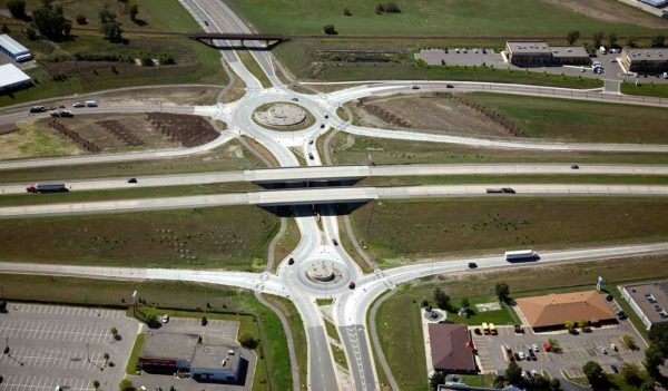 Roundabout highway system Cottage Grove, MN