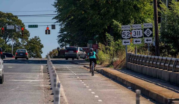 Bike lane on major roadway