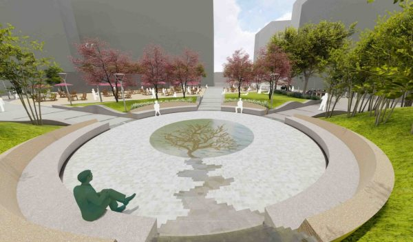 Rendering of Boston College War Veterans Memorial