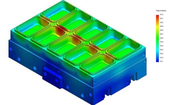 FEA Plastic Mold Thermal Analysis.