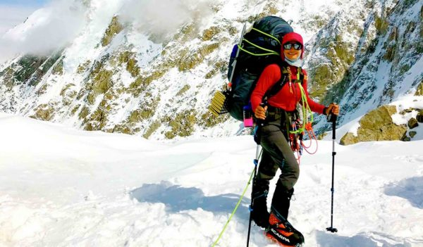 Stephanie Espinoza, Stantec staff, hiking Mount Denali
