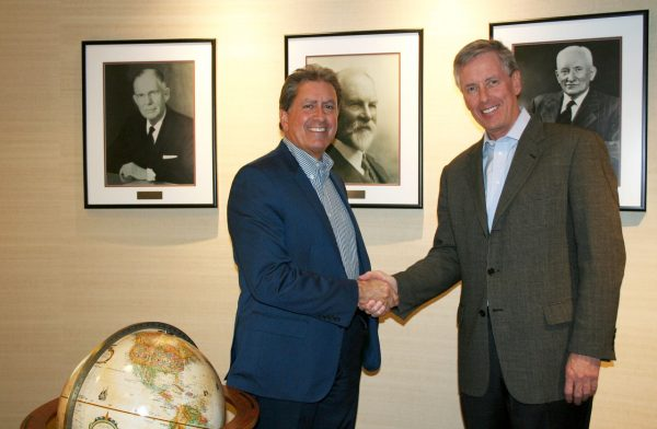 Bob Gomes, President & CEO Stantec along with Alan J. Krause, Chairman & CEO MWH Global
