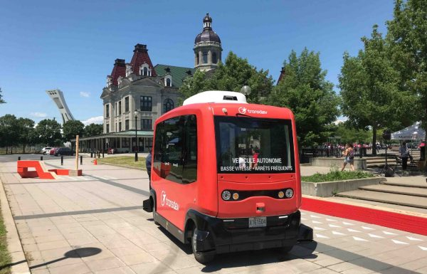 Autonomous electric shuttle deployed on Montreal's urban public roads