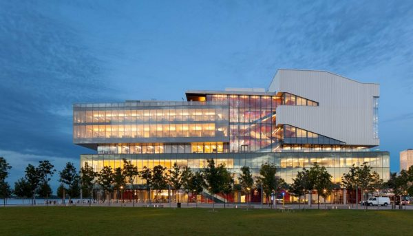 Exterior view of learning landscape elevation from Sherbourne Park.