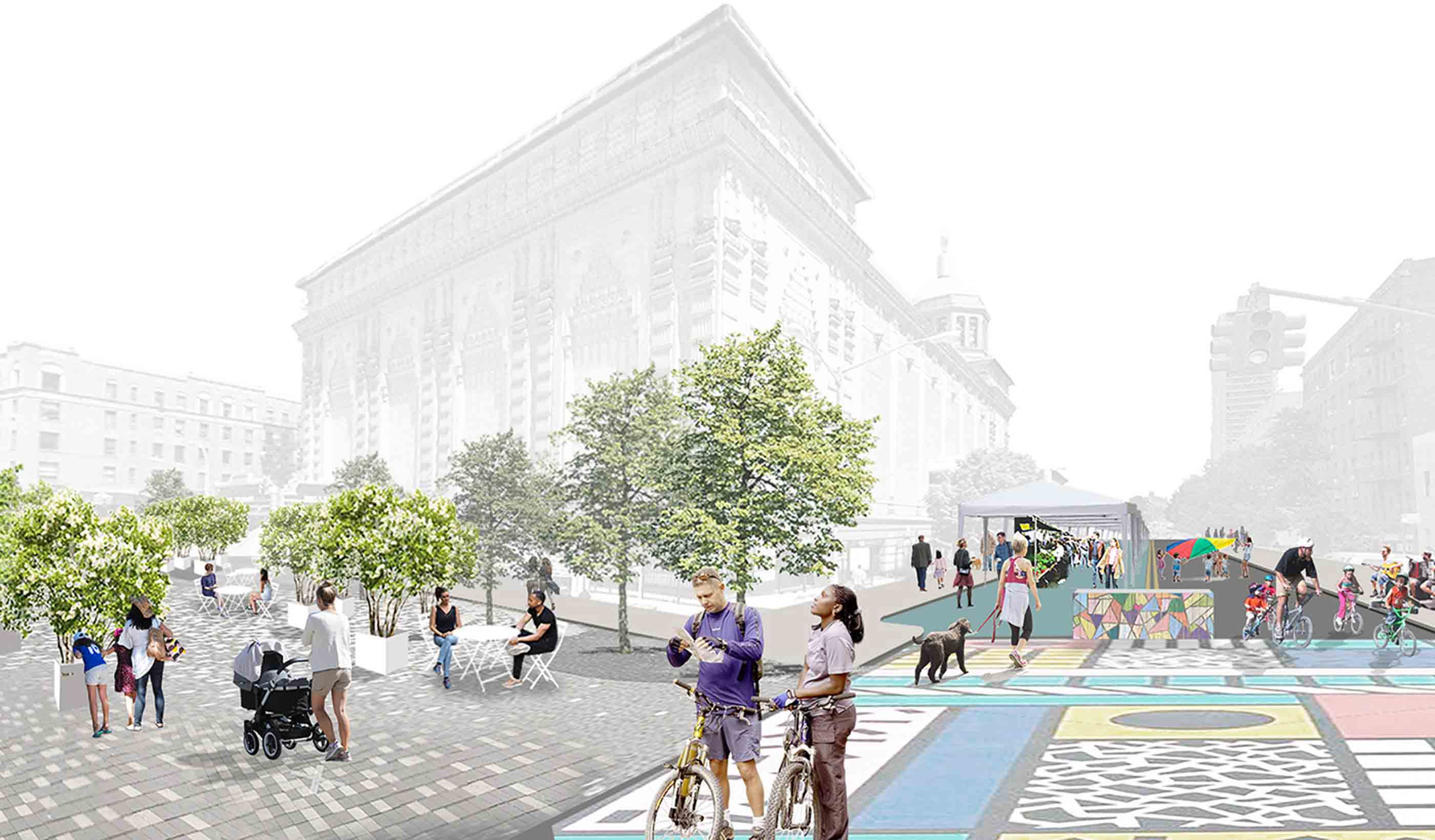 Conceptual rendering of proposed plaza