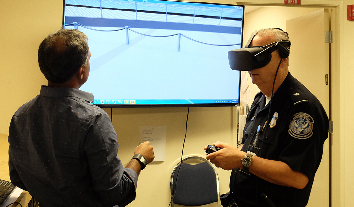 Demonstrating VR to view important sightlines